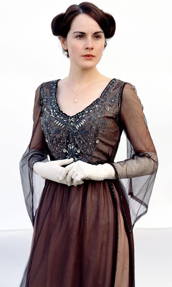 Michelle Dockery színésznő egy igazi vintage ruhában