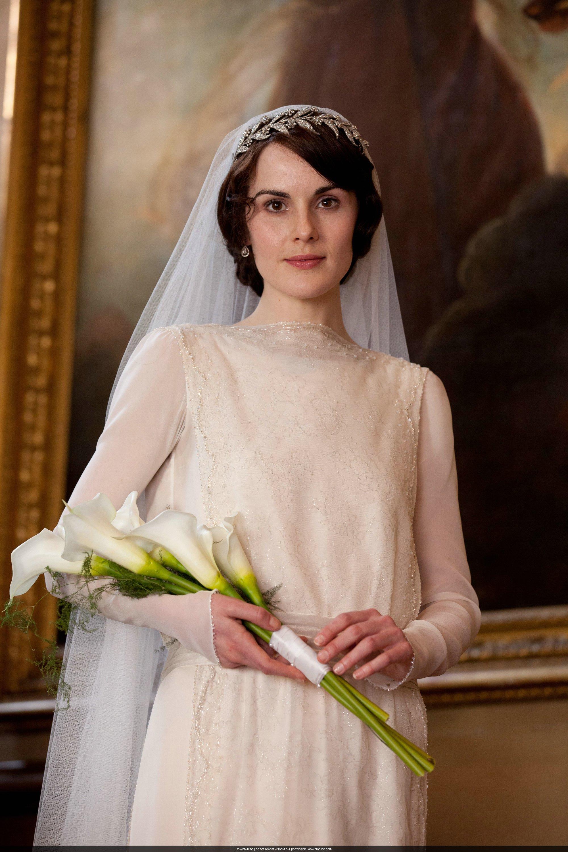 Lady Mary esküvői ruhája sokkal egyszerűbb volt