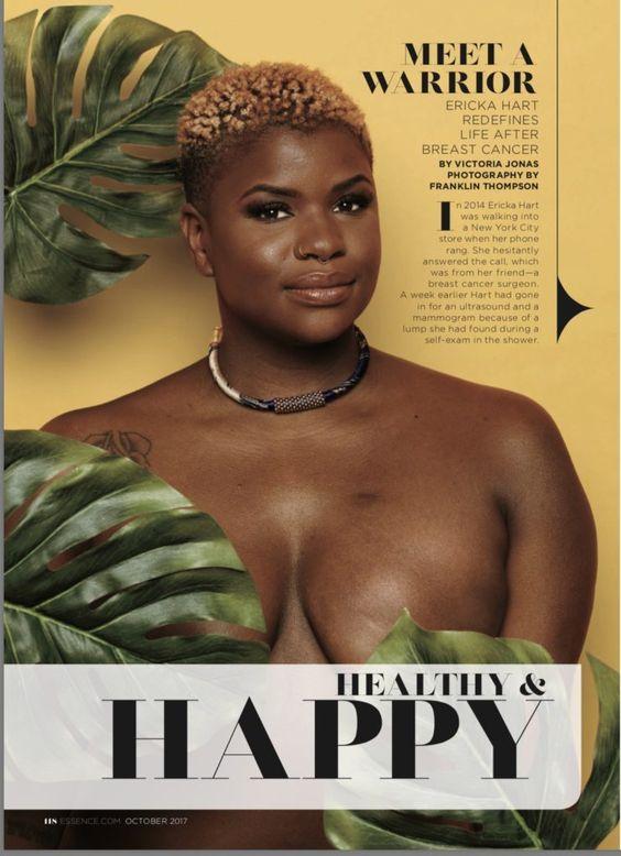 Ericka Hart, aki dupla masztektómiája után topless aktivista lett és tavaly a Chromat bemutatóján vonult egy mélyen dekoltált úszódresszben.