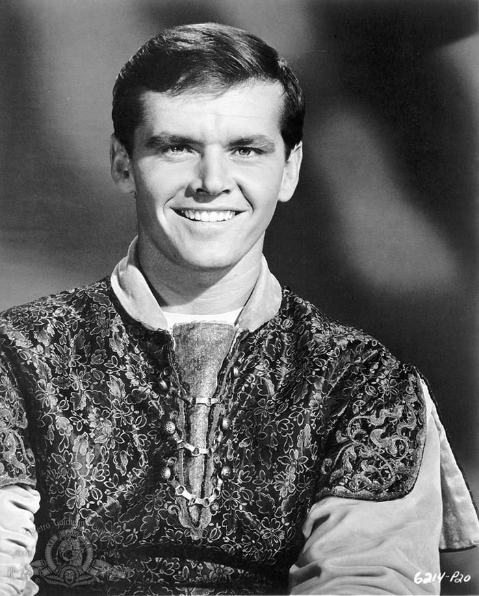 Jack Nicholson A holló című filmben, 1963-ban