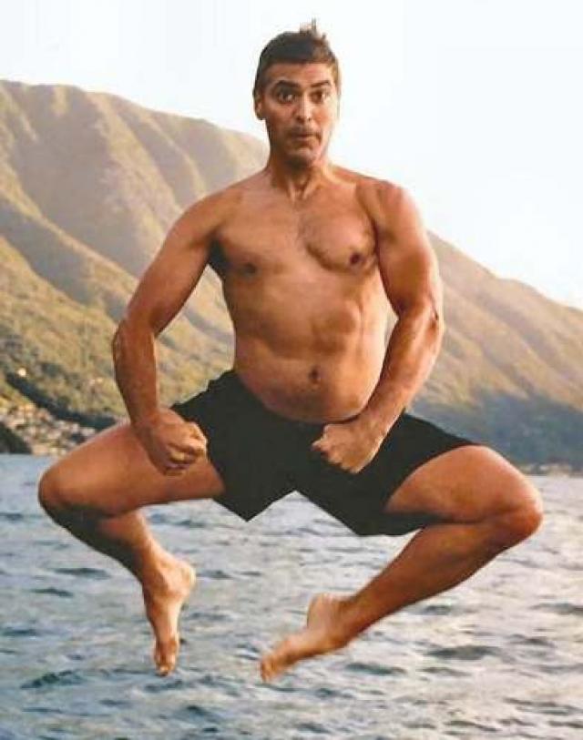 Most ugrik a Clooney a vízbe