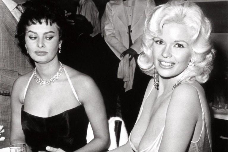 Sophia Loren és Jayne Mansfield nagy találkozása