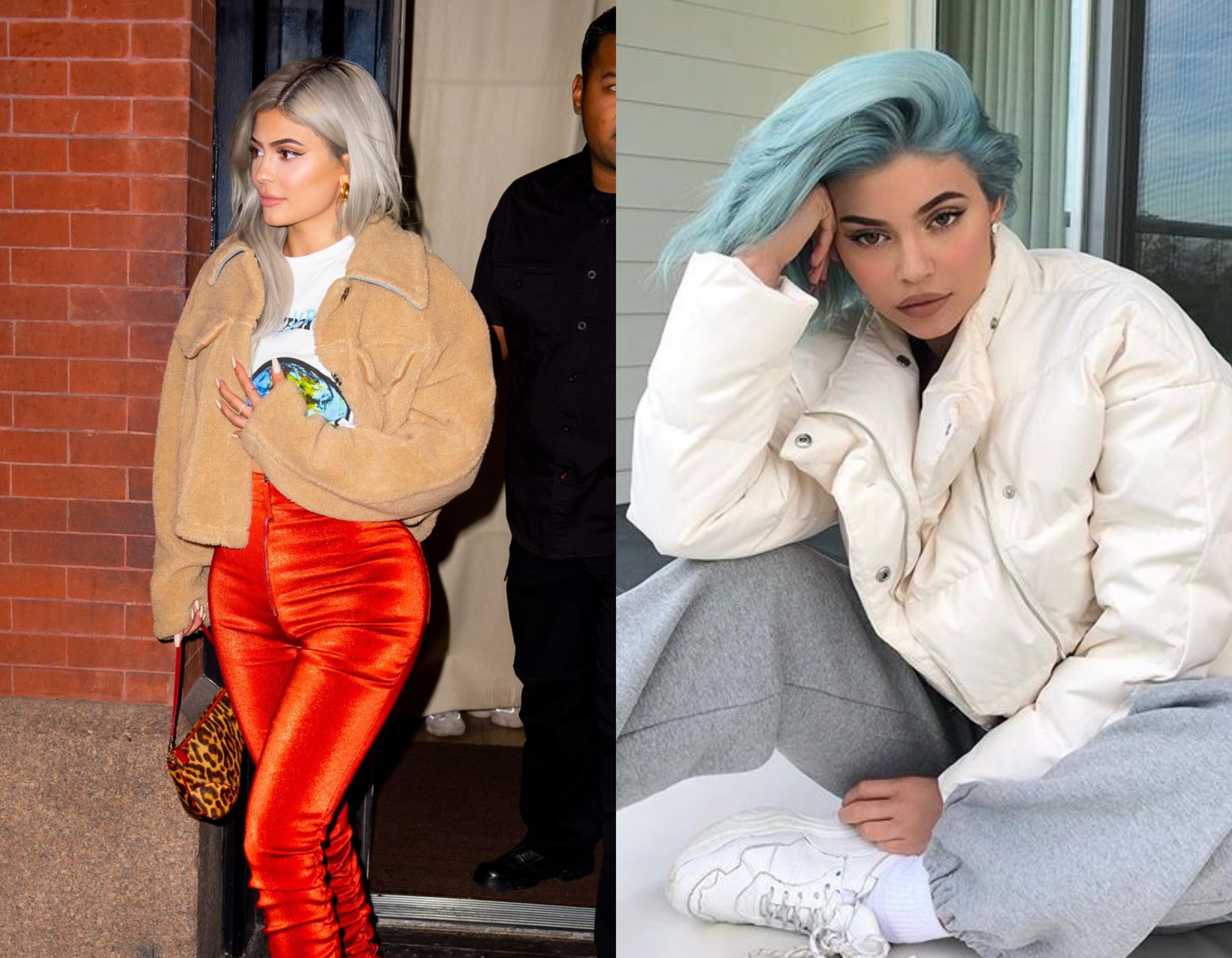 De Kylie Jenner is electric blue hangulatban volt egy ideig