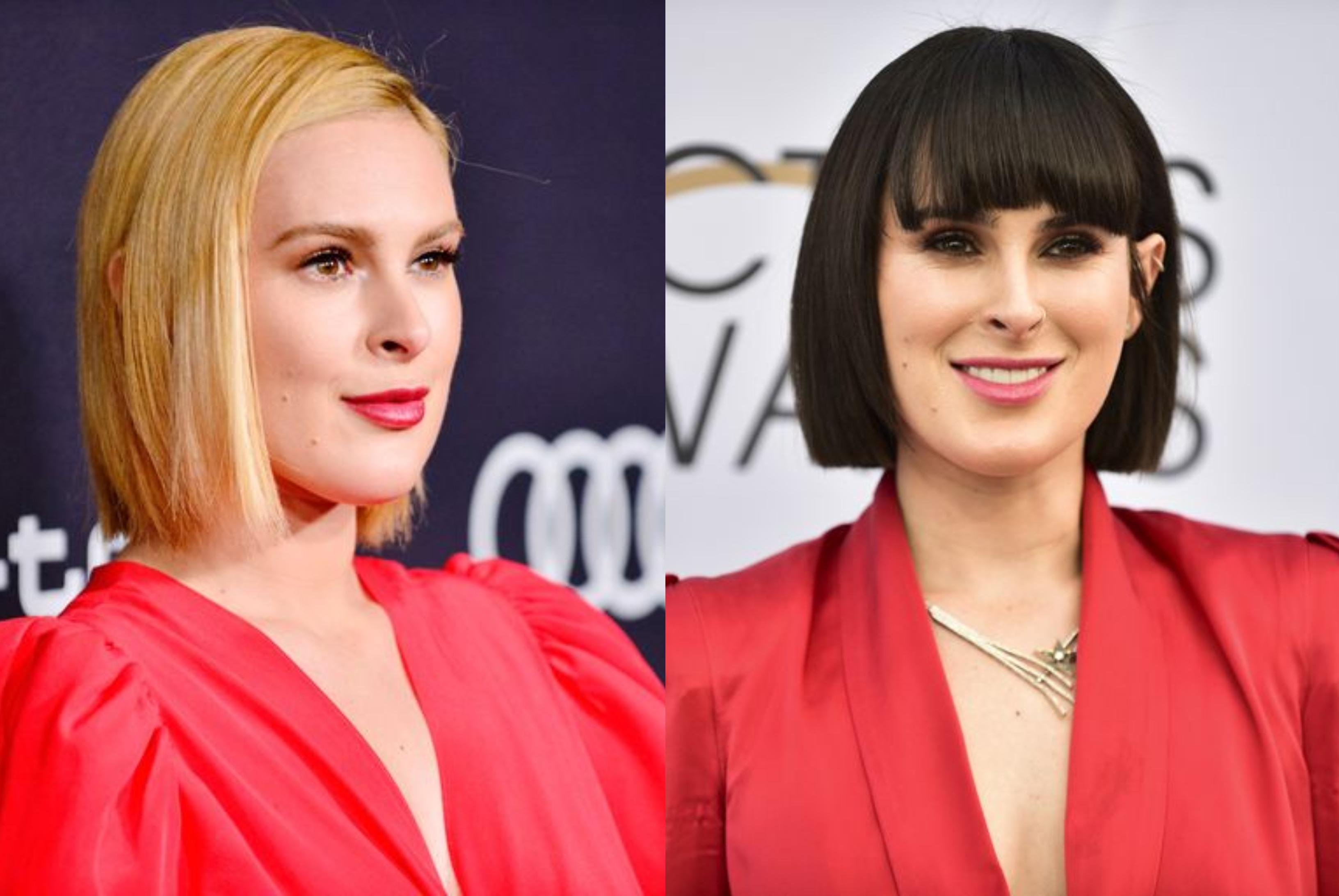 Rumer Willis, Bruce és Demi lánya is sötét hajra váltott, de a piros még mindig jól áll neki