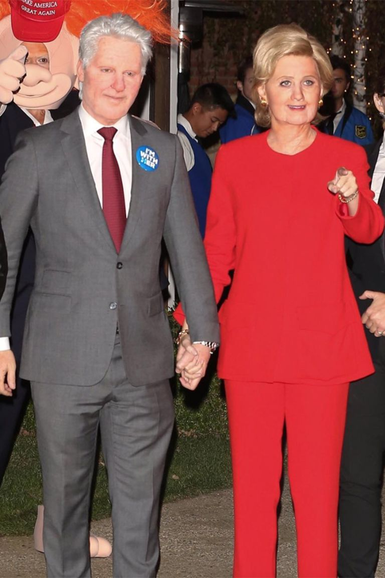 Orlando Bloom és Katy Perry Bill és Hillary Clintonként 2016-ban