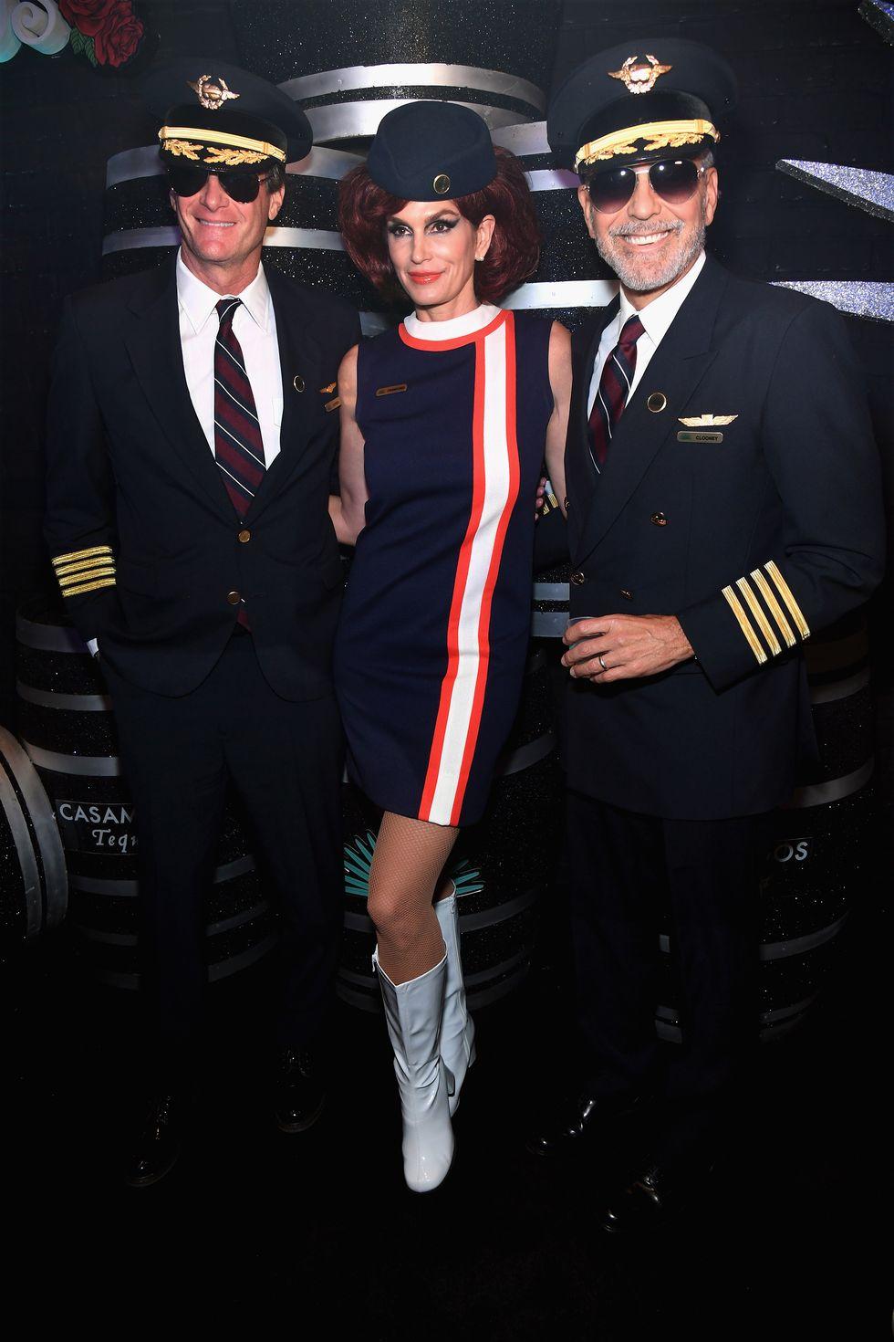 Rande Gerber (Cindy férje), Cindy Crawford és George Clooney mint pilóták és stewie