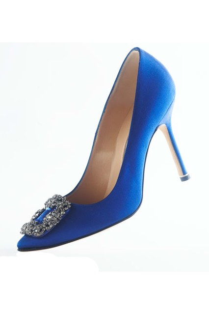 MANOLO BLAHNIK SOMETHING BLUE körömcipő - Az ikonikus Carrie magassarkú!