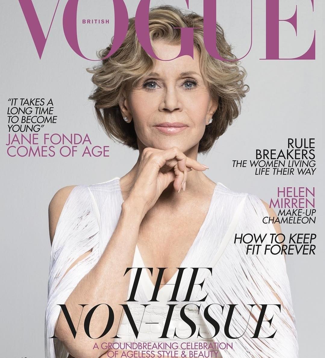 A 81 éves Jane Fonda a VOGUE címlapján - szuper döntés!