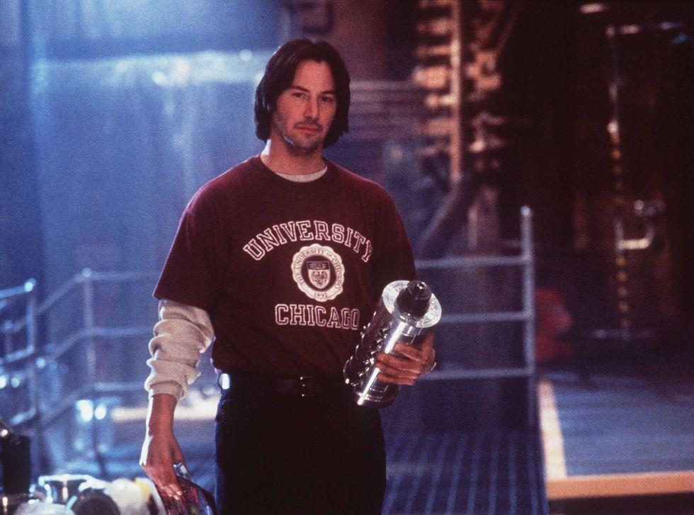Az 1996-os Láncreakció forgatásán