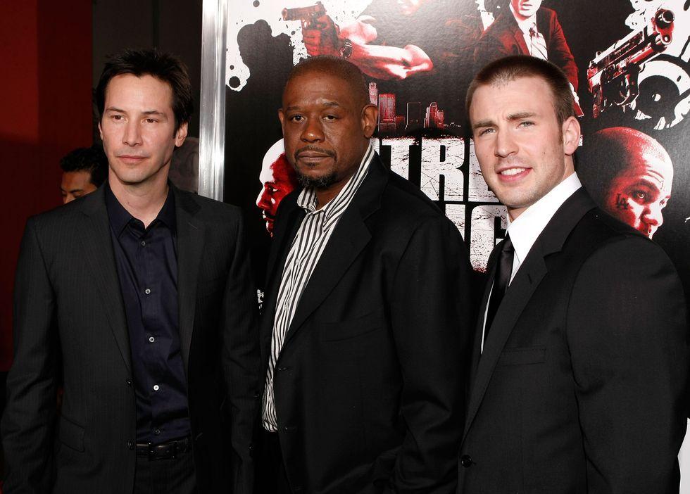 Micsoda csapat: Forest Whitaker és Chris Evans társaságában, akikkel Az utca királyai készült 2008-ban