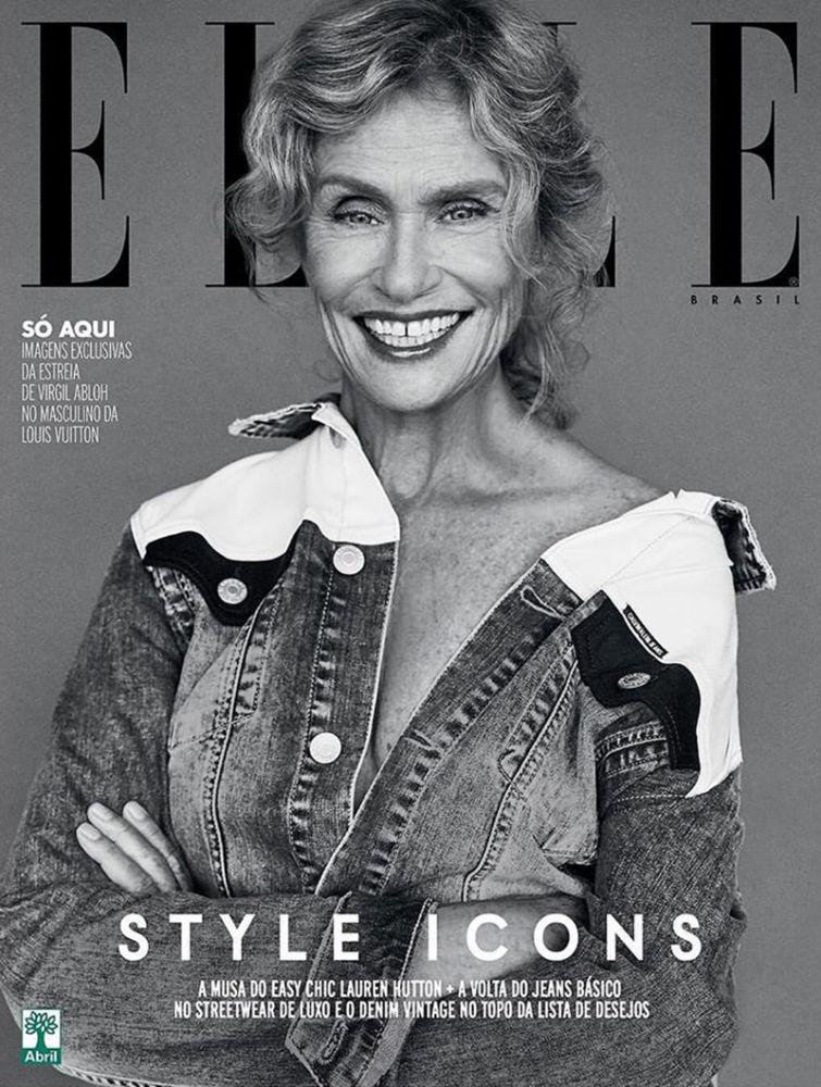 Lauren Hutton modell és színésznő, szintén kis foghézaggal, a 2018-as ELLE címlapján. 73 évesen pedig még fehérneműmodell is volt!