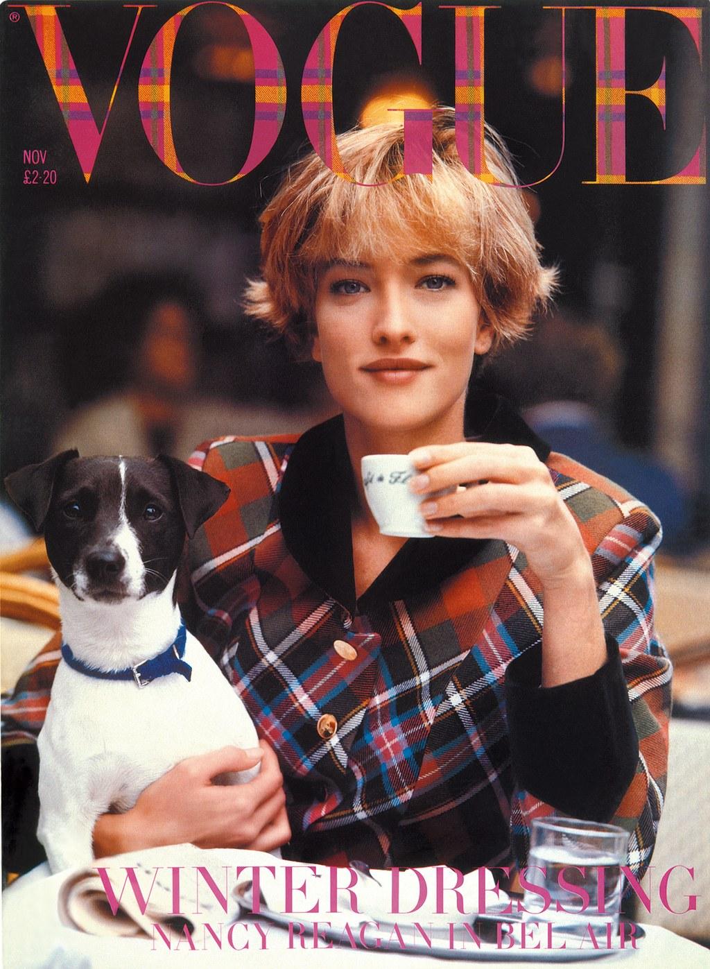 Az 1989-es VOGUE borító Tatjana Patitz modellel - Fotó: Peter Lindbergh