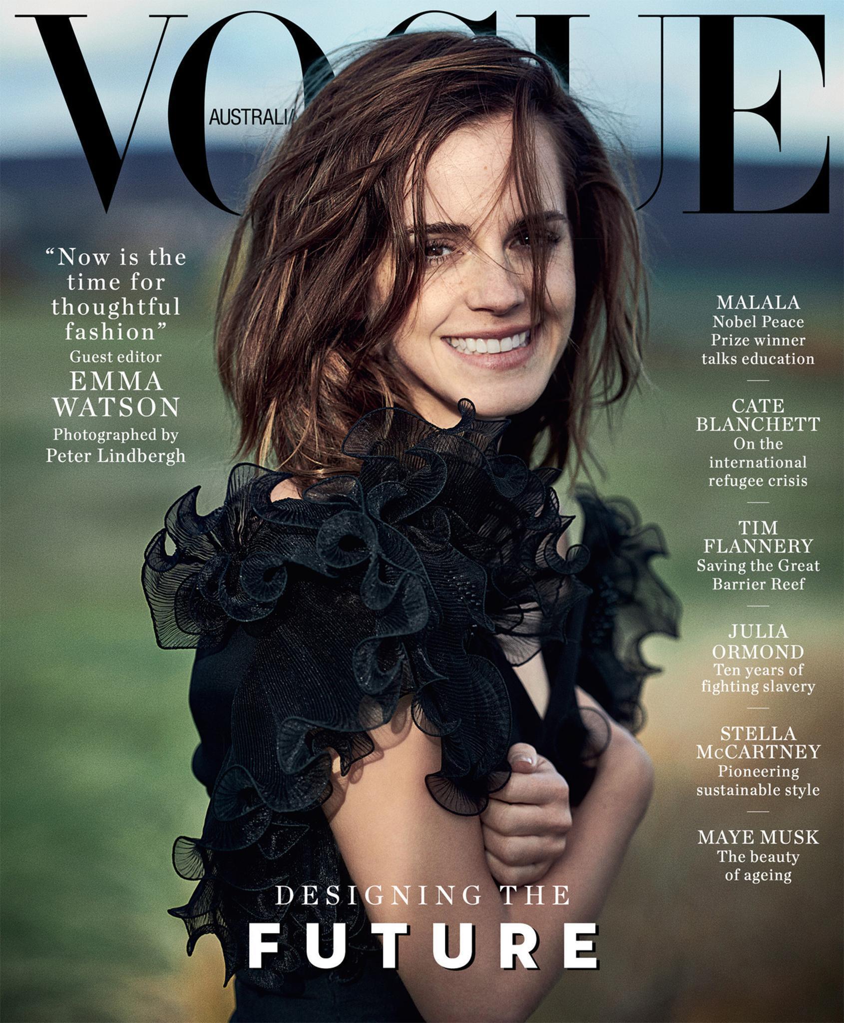 Emma Watson az ausztrál VOGUE címlapján - Fotó: Peter Lindbergh