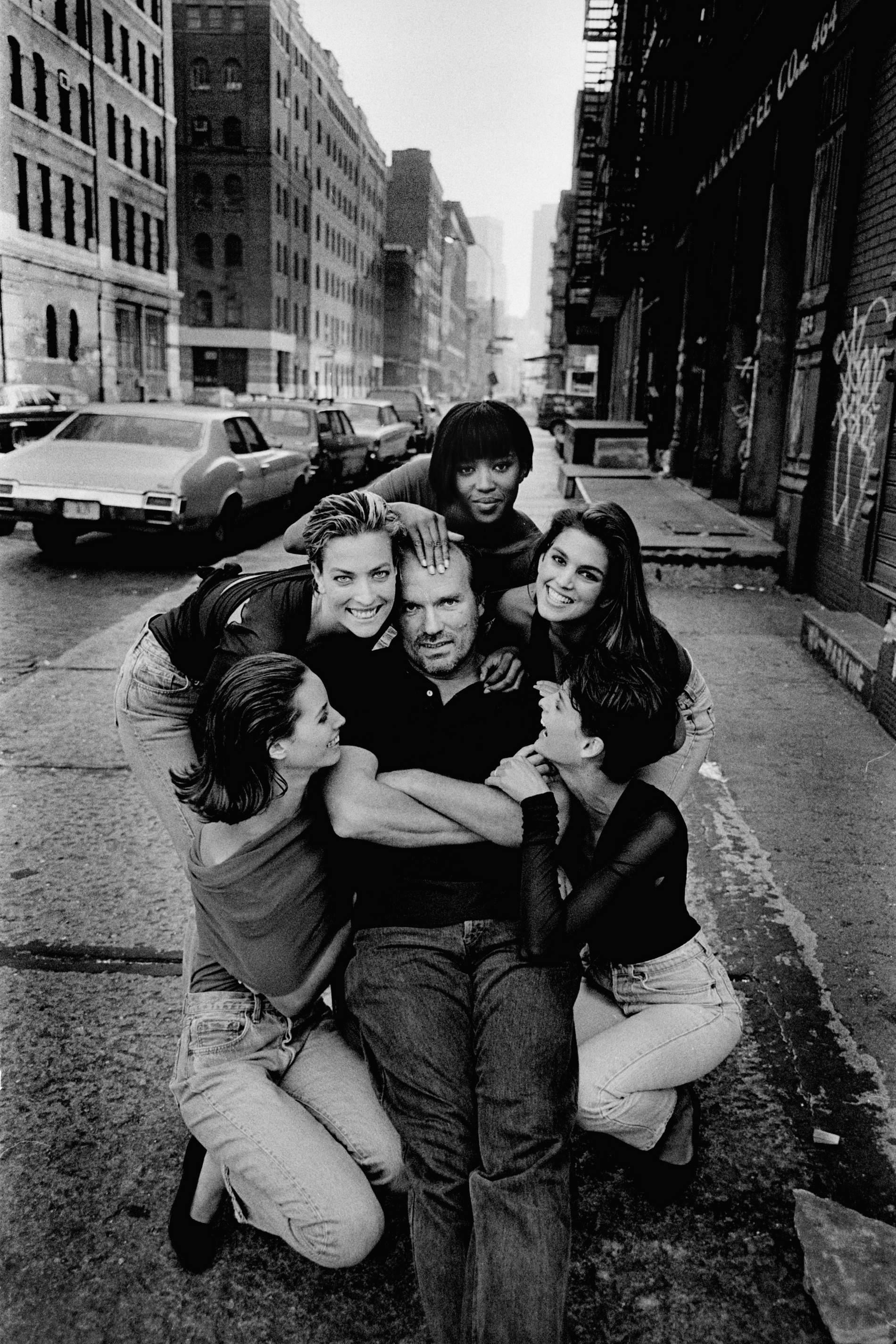 Peter Lindbergh az ikonikus modellcsapattal 1992-ben