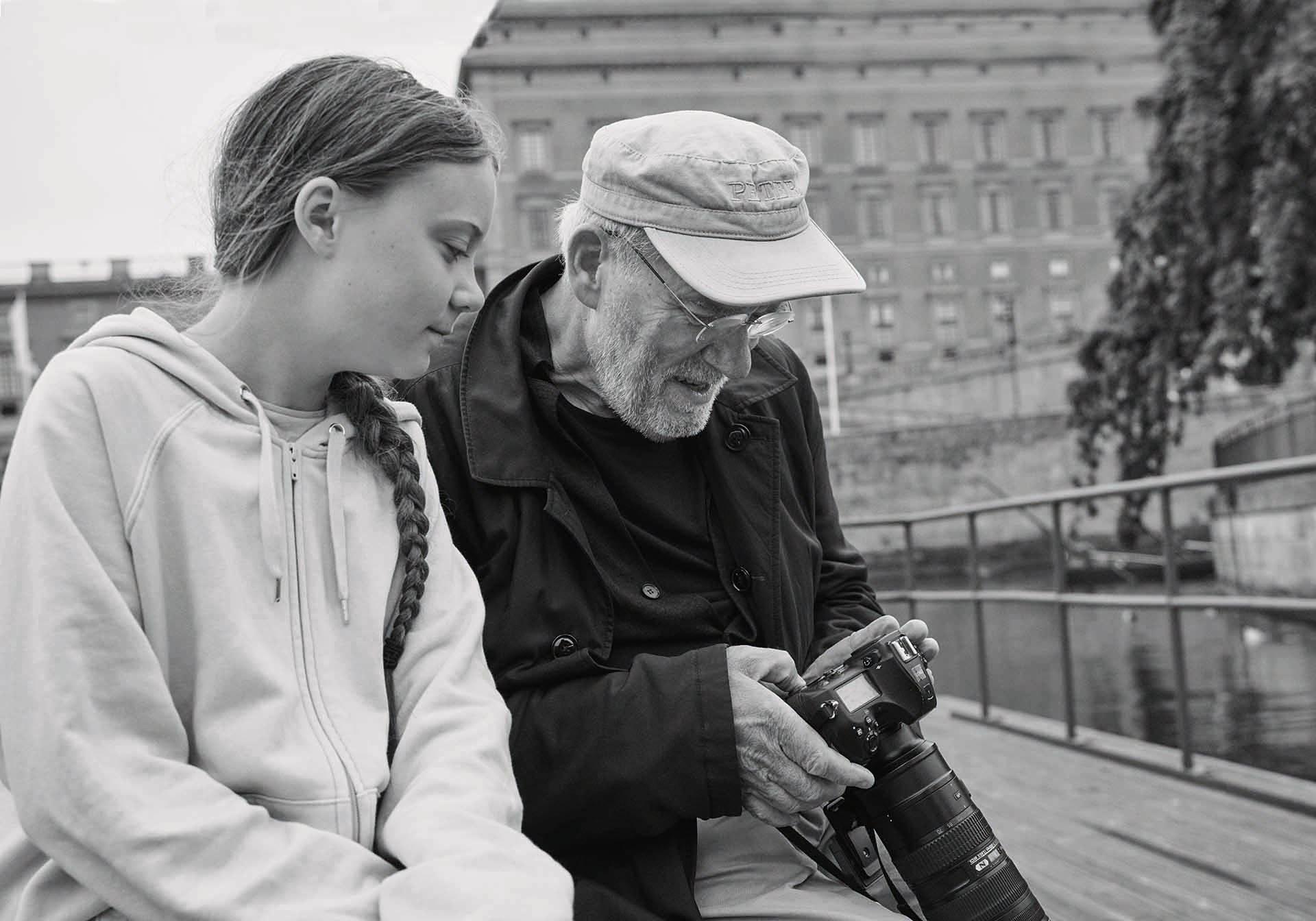 Peter Lindbergh és Greta Thunberg