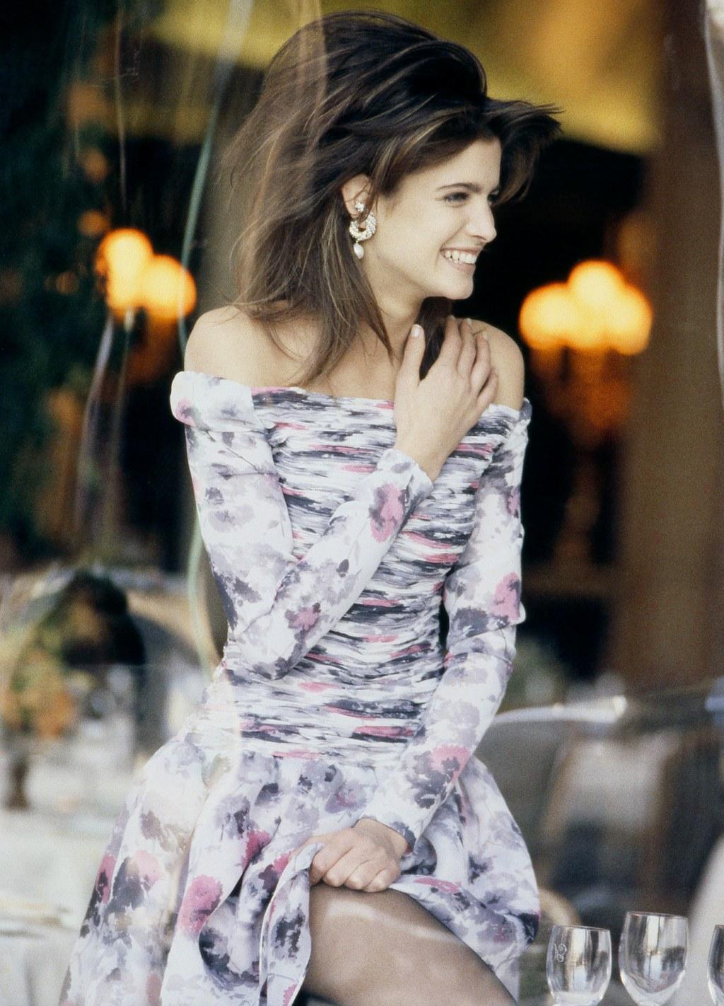 Stephanie Seymour Valentino ruhában - Fotó: Peter Lindbergh