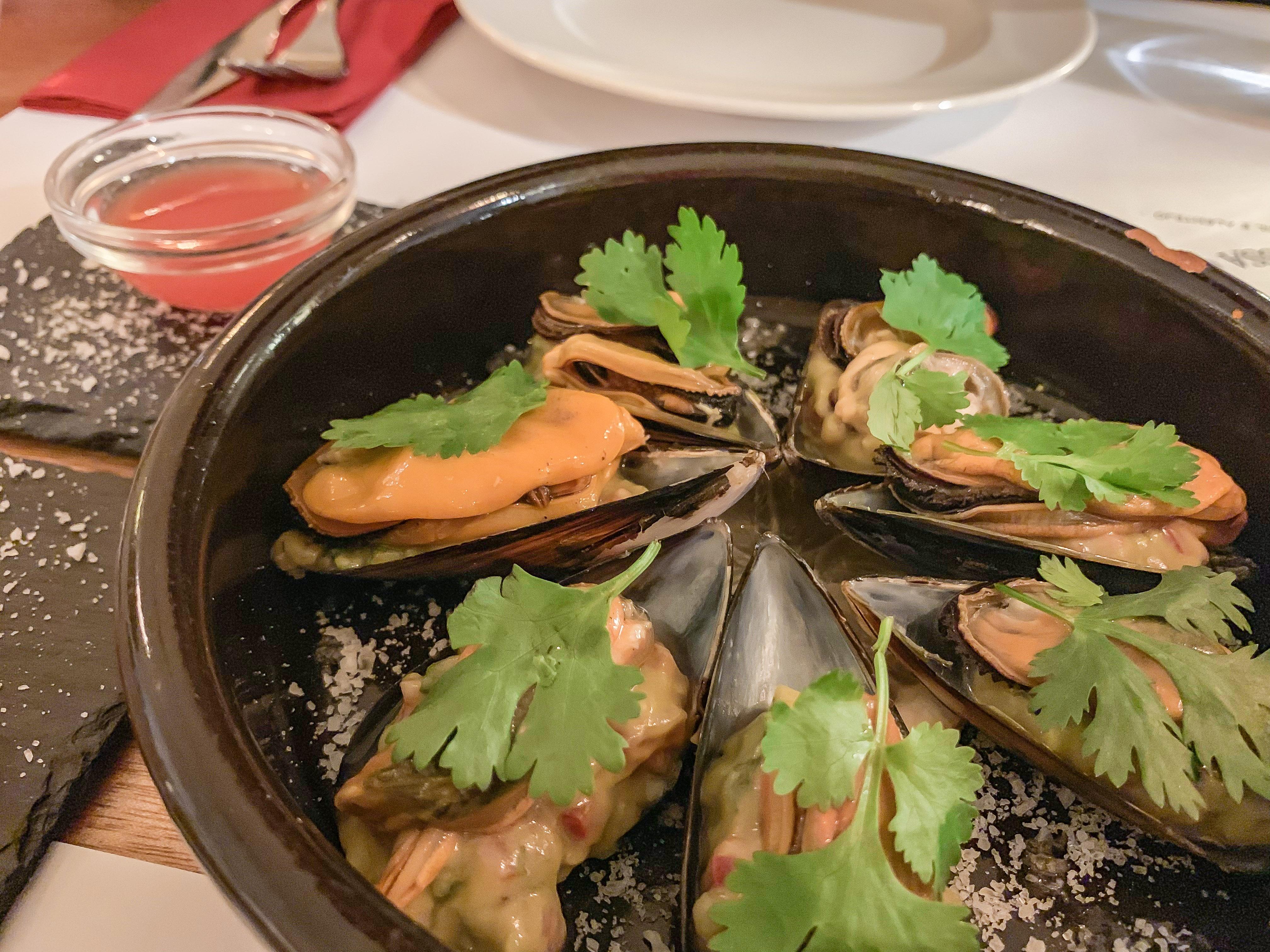 Avokádós kagyló az A nossa casa étteremben
