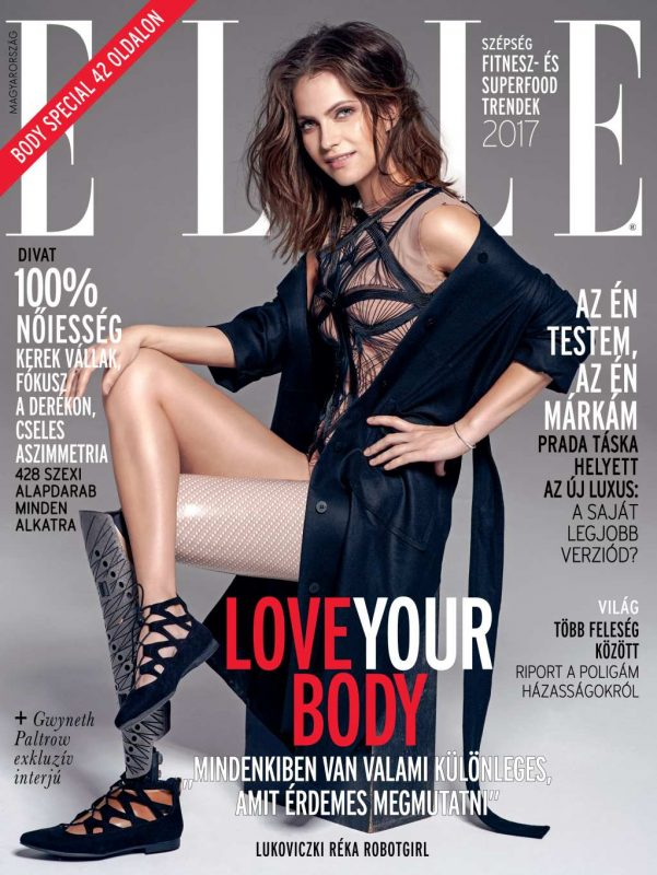 Lukoviczki Réka, a Robotgirl az ELLE Magyarország címlapján