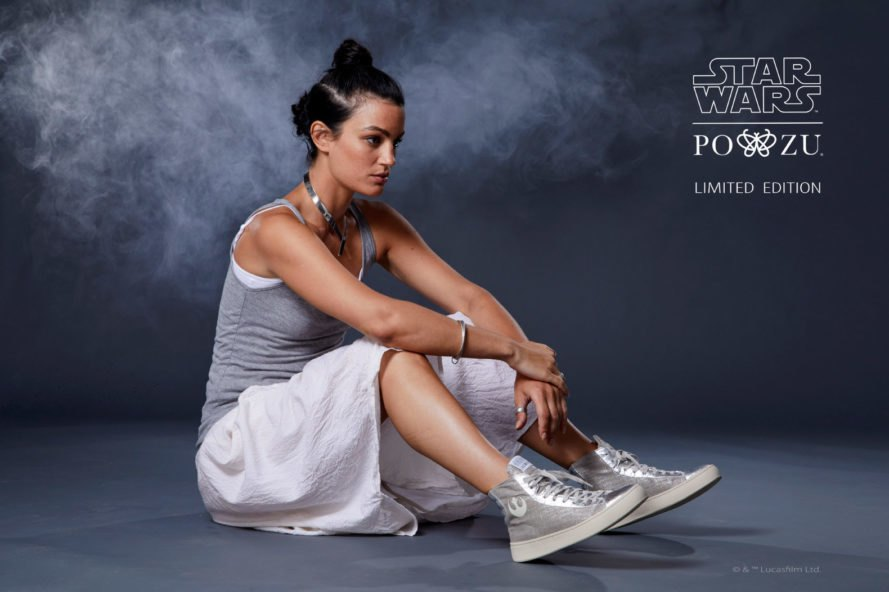A Po-Zu márka cipői ananászból előállított textilből készülnek - ez egy Star Wars designjuk