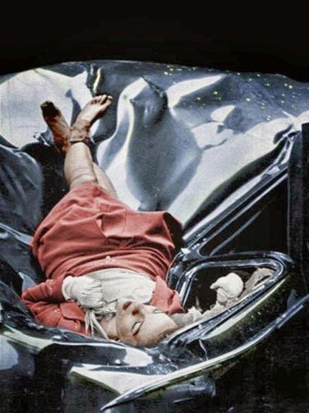 """Evelyn McHale 1947. május 1-jén döntött úgy, hogy leugrik az Empire State Building tetejéről, 320 méter magasból - így született a """"Legszebb öngyilkosság"""" című fotó."""