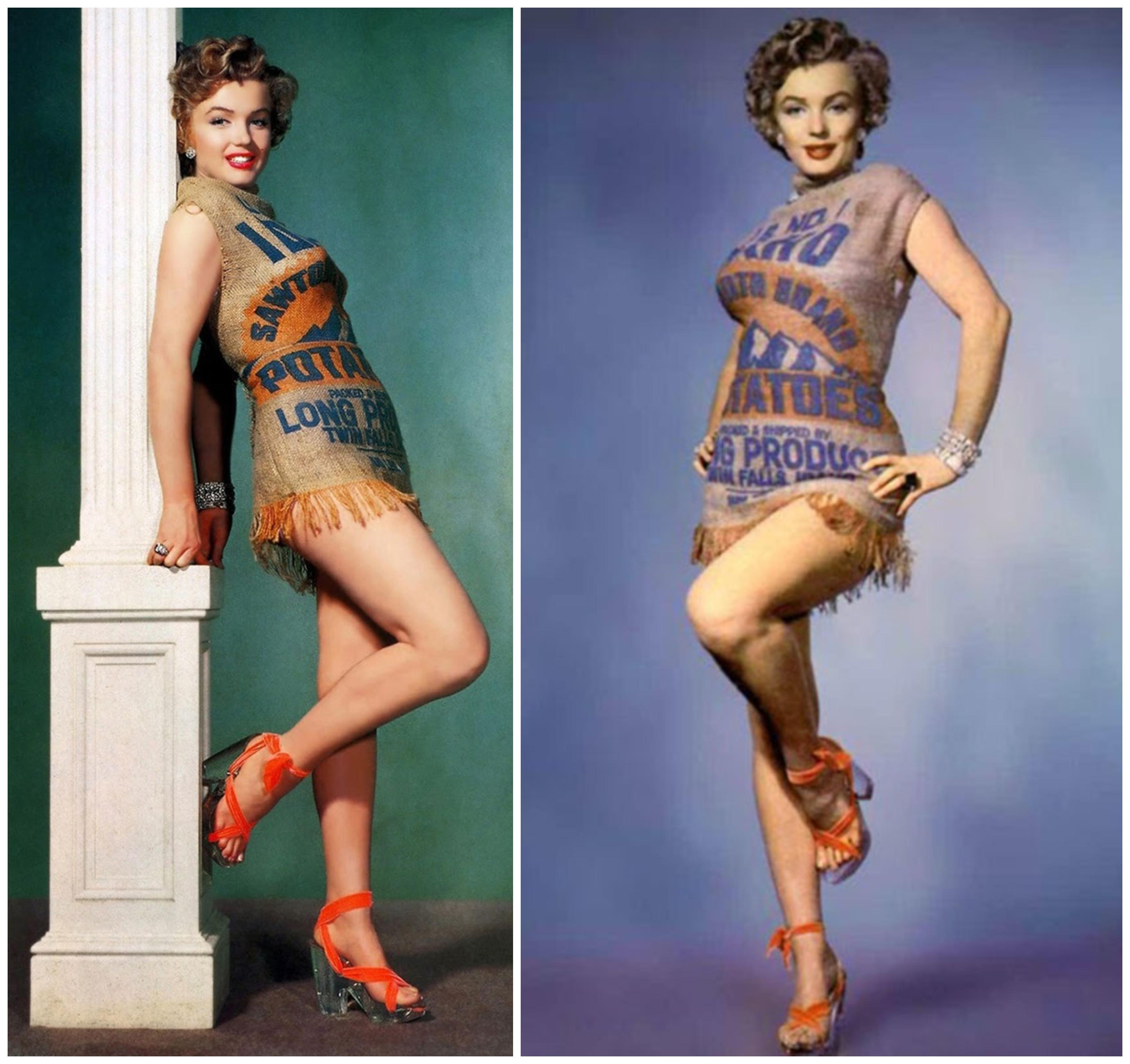 Marilyn Monroe krumpliszsákos sorozata megmutatta, hogy mindenben elképesztően csinos tudott lenni!
