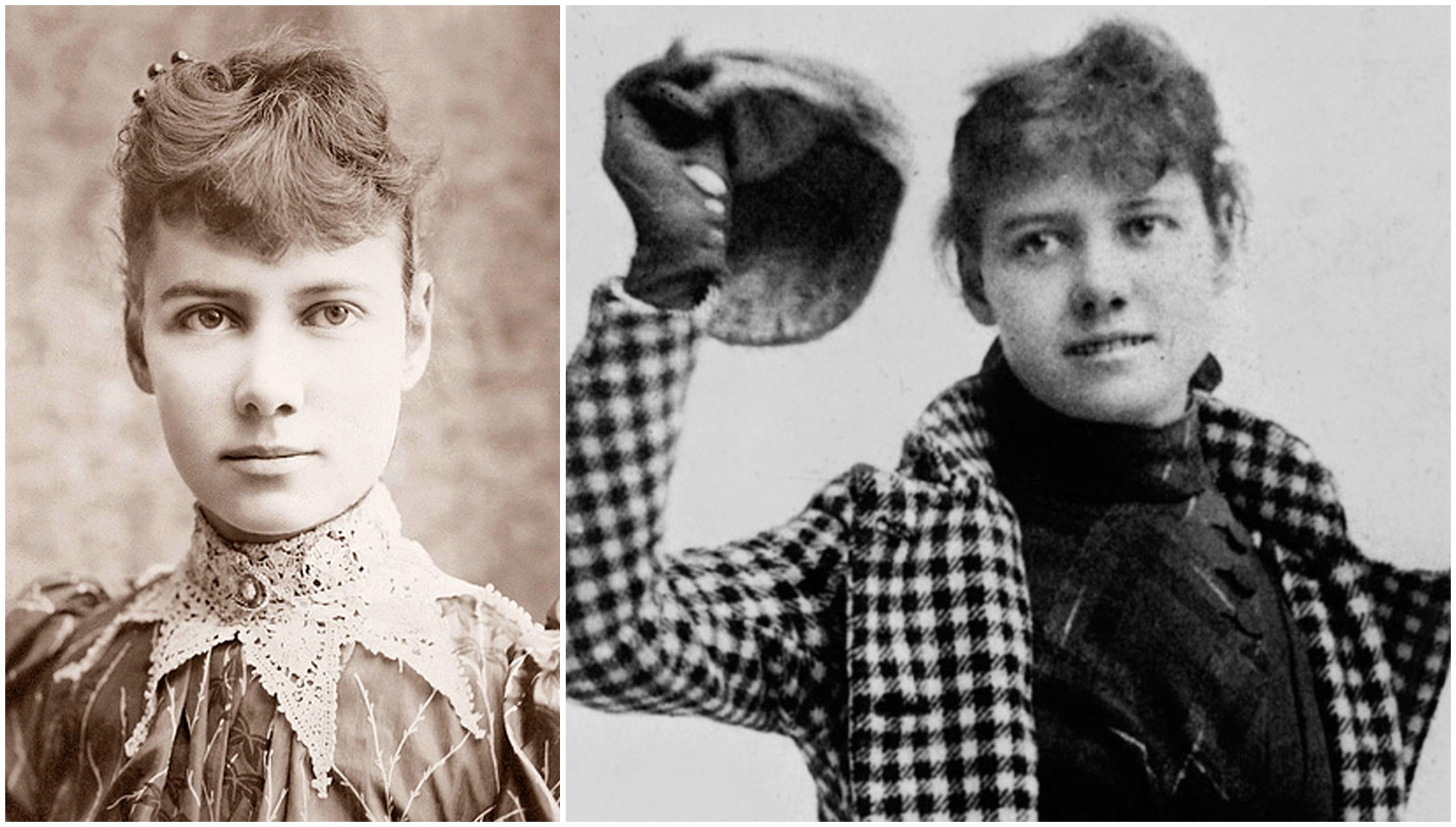 Nellie Bly viktoriánus sztárújságíró 72 nap alatt körbeutazta a Földet, egyedül, nőként, egyetéen táskával, mert azt mondták, erre csak egy férfi képes - és legyőzte a vele egyszerre induló férfi kollégáját!