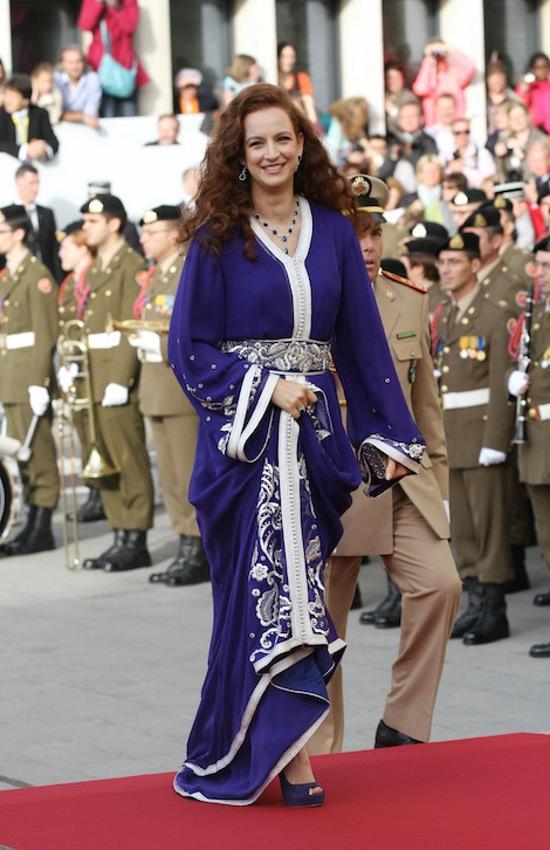 Lalla Salma a luxemburgi Guillaume herceg esküvőjén