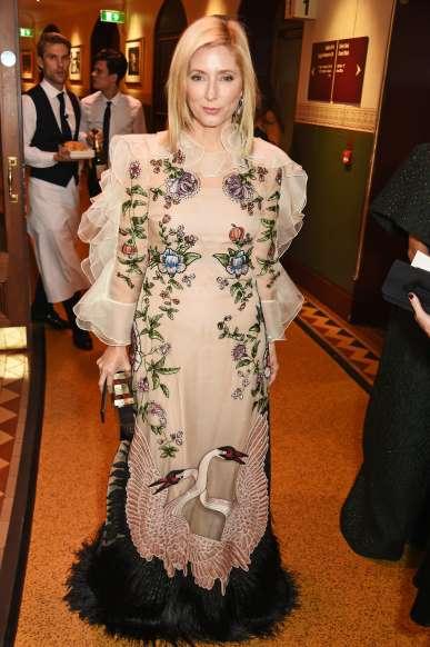Marie-Chantal görög koronahercegné 2016-ban, a londoni Fashion Awards díjátadón