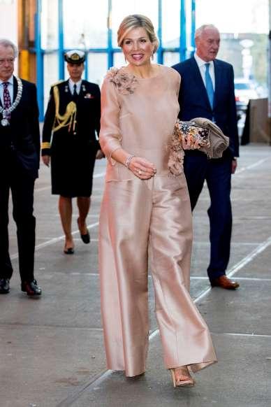 Maxima holland királyné a Bíborszín musical premierjén 2018-ban