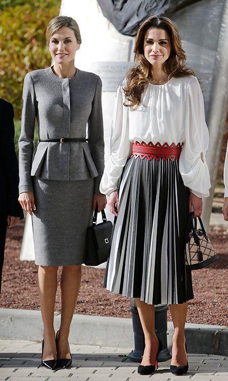 Letizia spanyol királyné és Rania jordán királyné