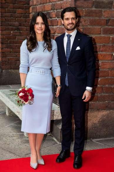 Zsófia hercegnő a stockholmi Városházánál 2018-ban