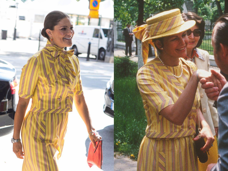 Victoria hercegné az édesanyja, Silvia 1978-as ruhájában