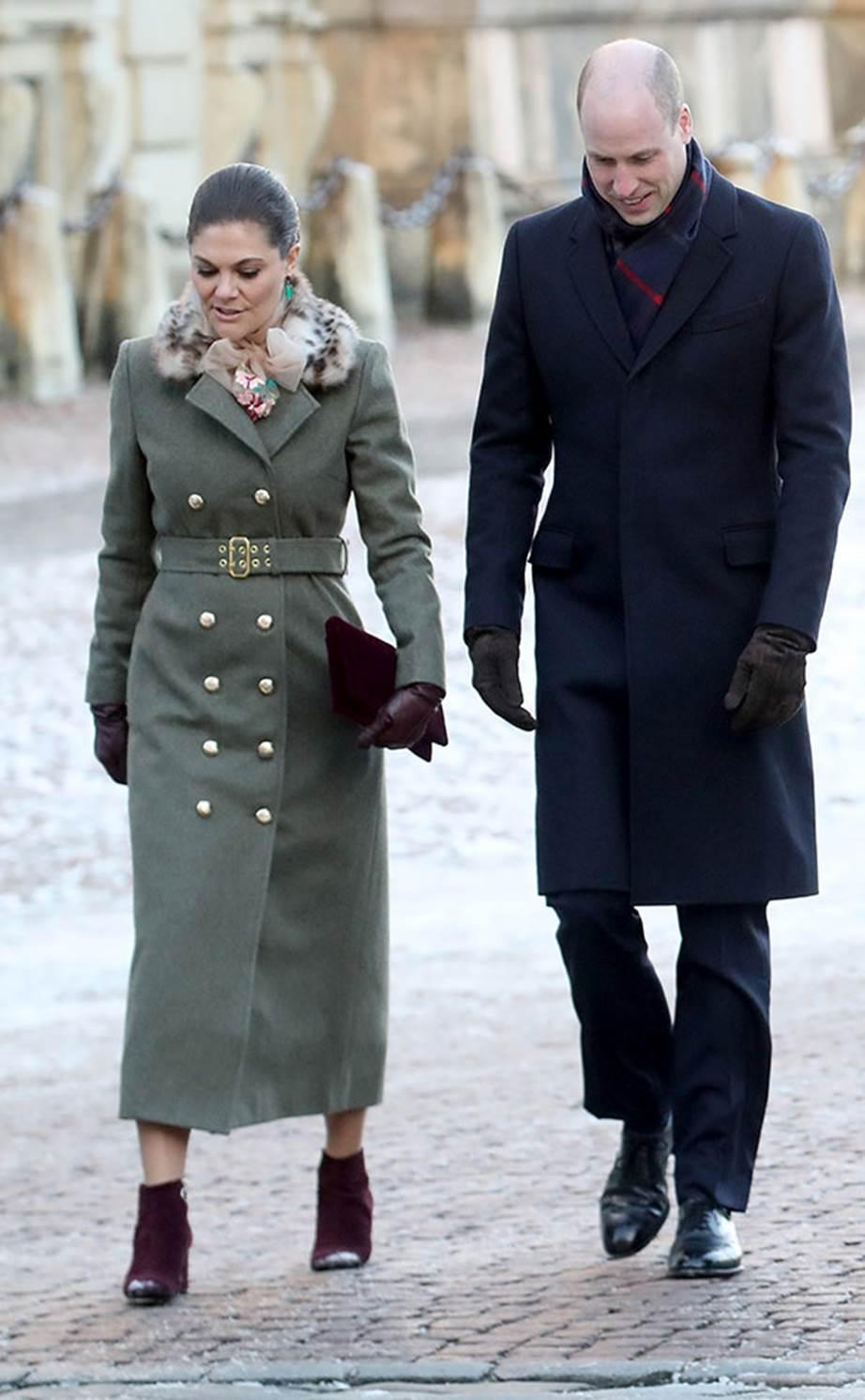 Victoria Vilmos herceggel egy Ida Sjostedt kabátban
