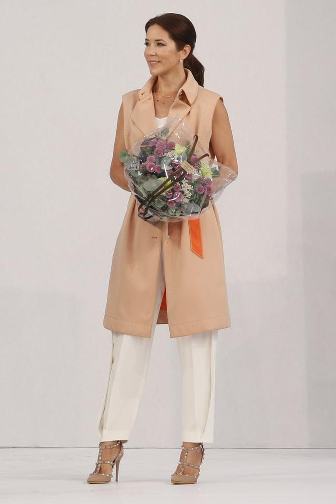 Mária dán királyi hercegnő a koppenhágai divathéten