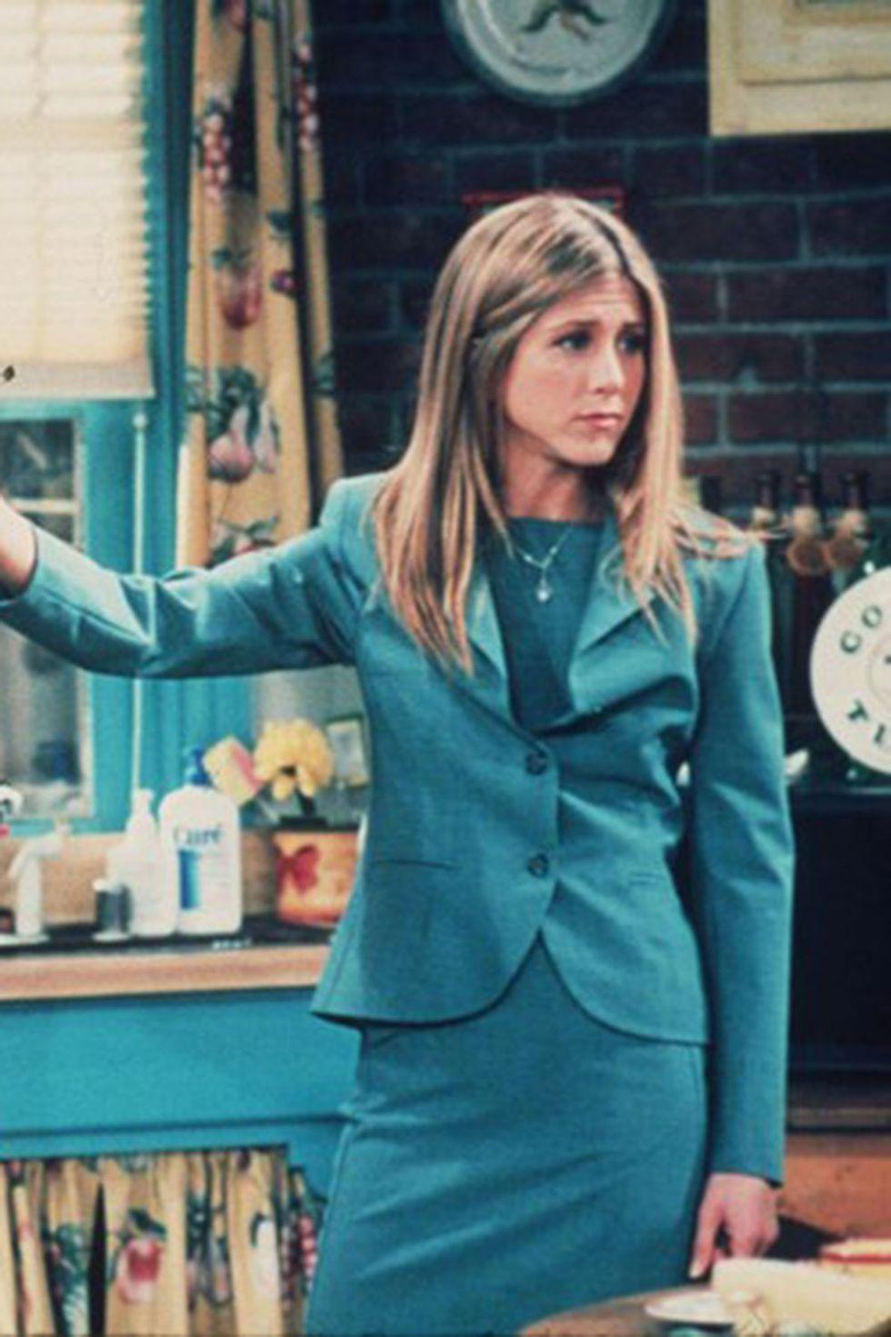 Úúú, egy jó kis kosztüm! A dolgozó lány a '90-es években.