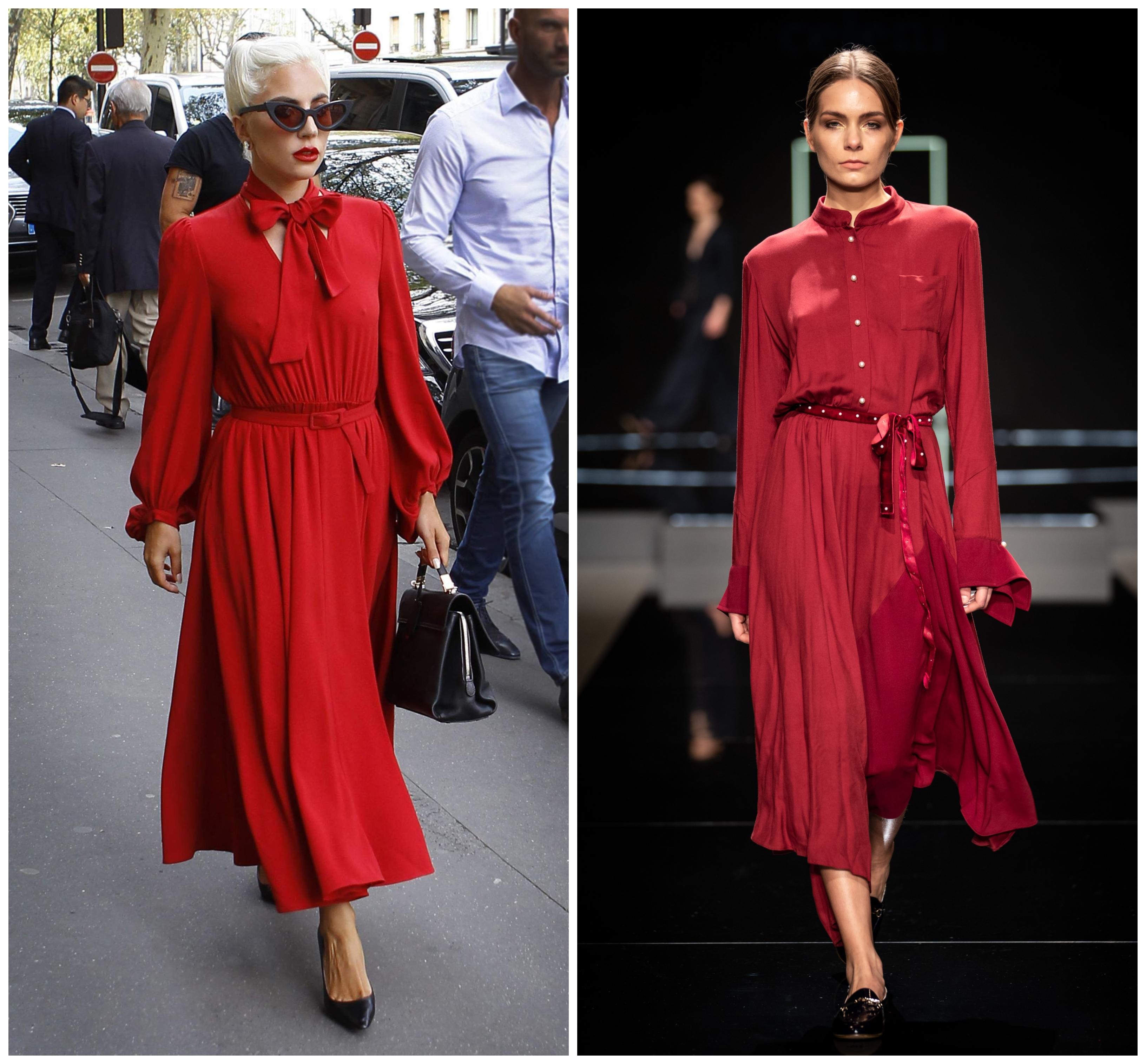 Ki viselte jobban a pirosat? Lady Gaga vagy a Celeni modellje? Az biztos, hogy mindkét ruha gyönyörű - és egy kis masnival a derékon vagy a nyakvonalon annyira szépen fel lehet dobni!