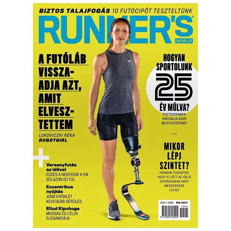 Lukoviczki Réka, a Robotgirl, a Runner's World magazin borítóján