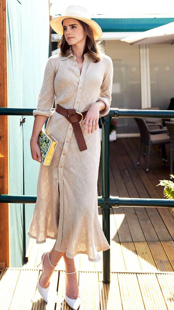 Érdemes megfigyelni Emma Watson trükkös övtechnikáját, és jól ellesni!