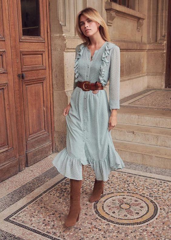 Imádom ezt a szép pasztell akvamarint az idén hódító barnás árnyalatokkal - western girl style!