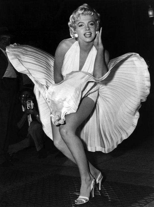Marilyn Monroe és a felejthetetlen lebbentés a Hétévi vágyakozás c. filmből