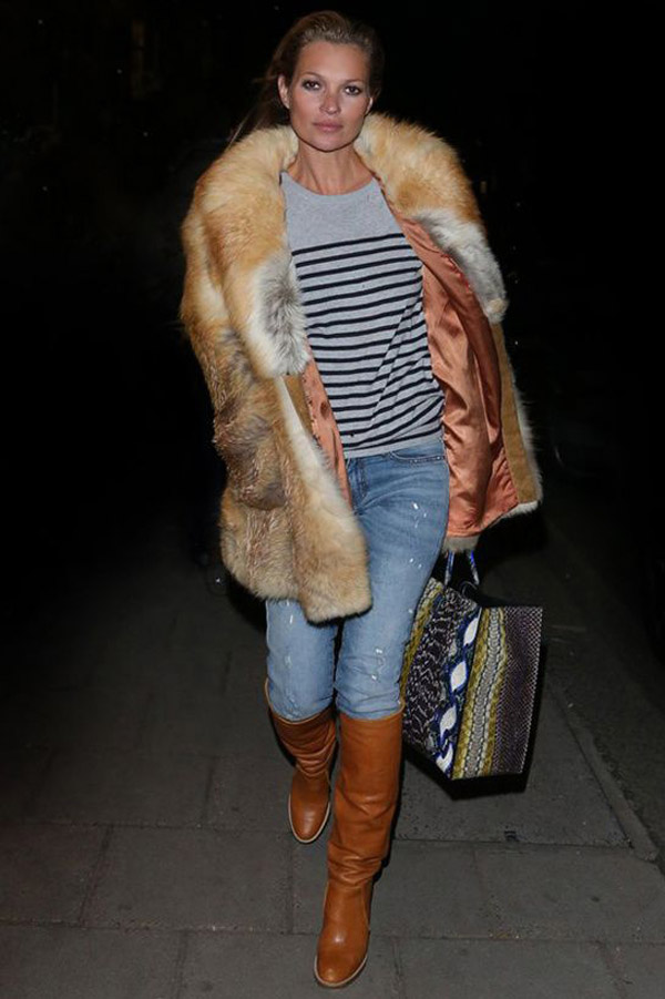 Kate Moss bundával kombinálta