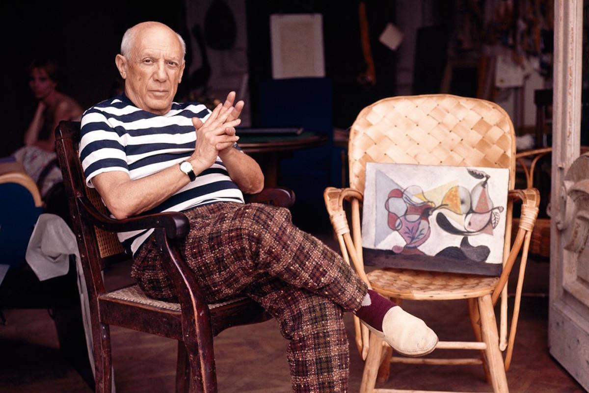 Pablo Picasso is merészen kombinált