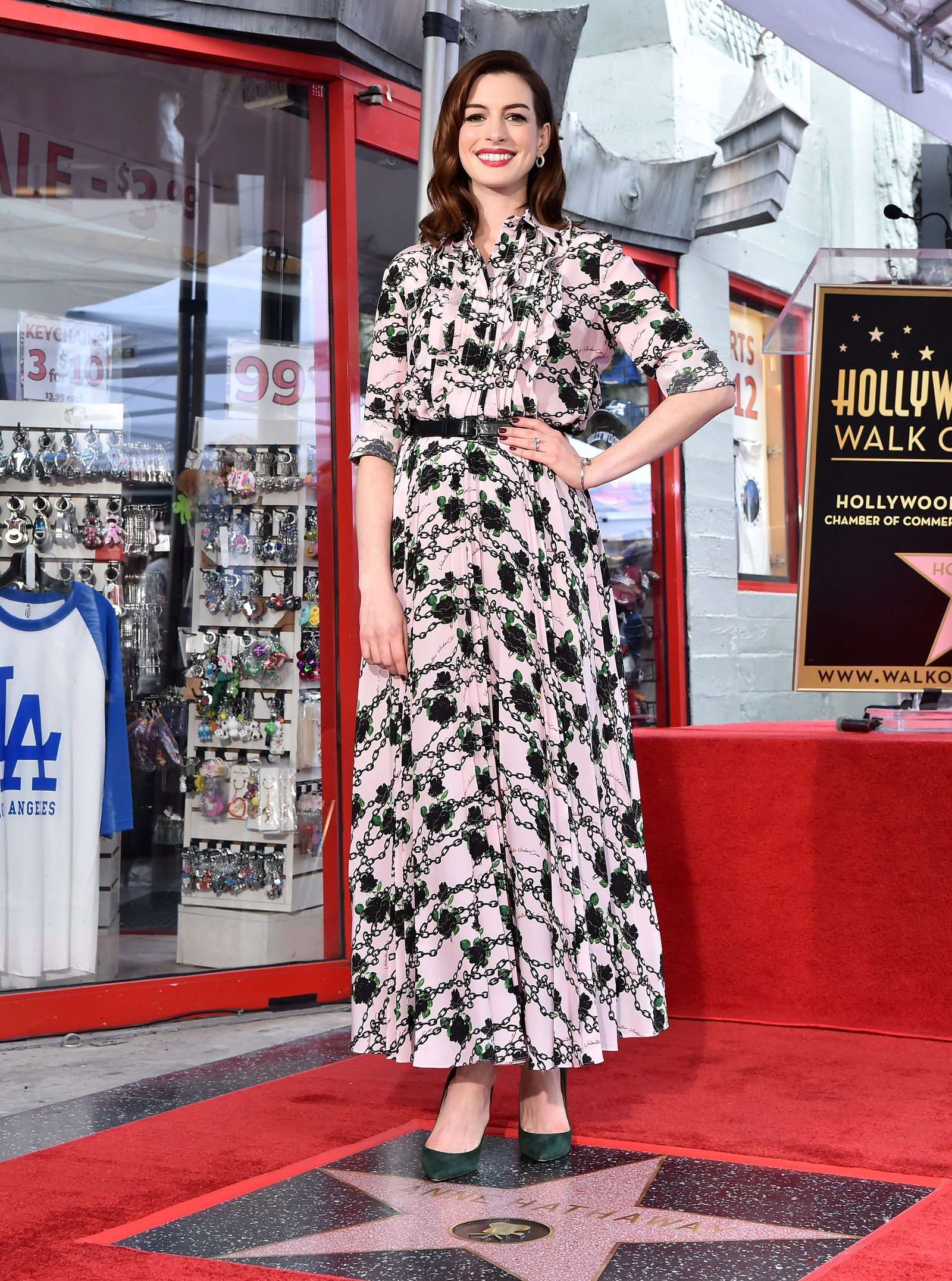 Anne Hathaway (Valentino) - Hollywood Walk of Fame, 2019