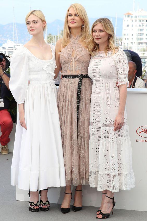 Elle Fanning, Nicole Kidman és Kirsten Dunst - Cannes-i Filmfesztivál 2017