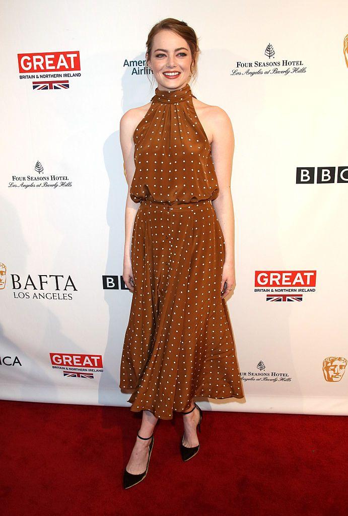 Emma Stone (Diane von Furstenberg) - BAFTA 2017