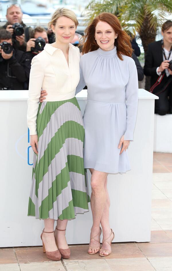 Mia Wasikowska és Julianne Moore - Cannes-i Filmfesztivál 2014