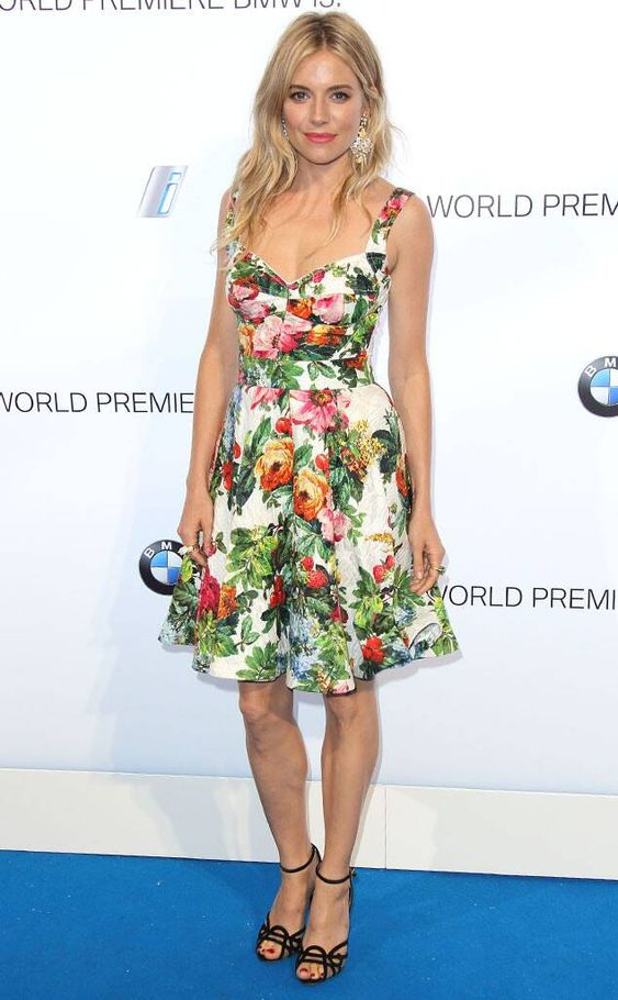 Sienna Miller (Dolce & Gabbana) - BMW i3 Global Reveal Party