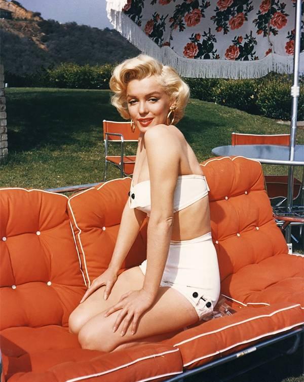 Marilyn egy ritkán látott bikinis fotón