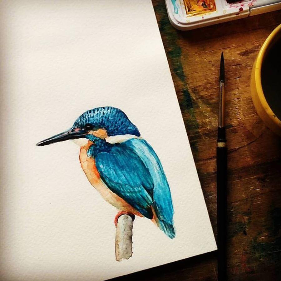 Szolnoki Ágnes természet ihlette festményei mellett itthon is előforduló madarakról, rovarokról fest akvarell tanulmányokat, a velük készült művészi nyomatai az MME - Magyar Madártani Egyesület gondoskodó termékei közé tartoznak, így megvásárlásukkal az alapítvány munkája is támogatható.<br />@szolnokiagnes.with.love