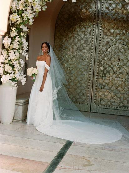 Sabrina Dhowre az Idris Elbával kötött esküvőjén